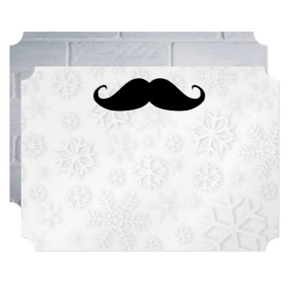 Mustache Snow Shower Designer Destiny Destiny's Card - anniversary gifts diy cyo party