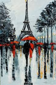 Image result for abstract art black and white red of paris