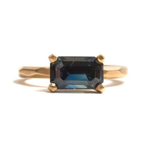 Claw Set Sapphire Soul Ring by Krista McRae