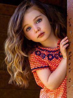 Character inspiration: little girl, brown hair, blue (gray?) eyes