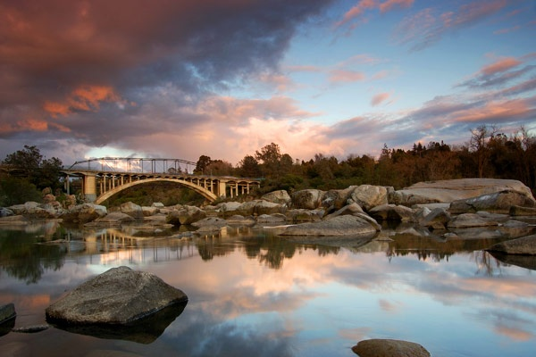 Shots on rocks rainbow bridge folsom ca travel usa for Landscaping rocks sacramento