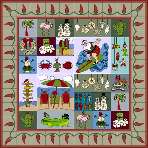 42 best beach theme blocks images on pinterest quilt patterns