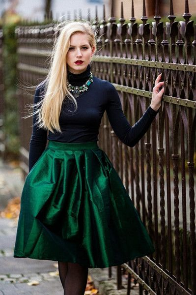Image result for holiday party outfits emerald green