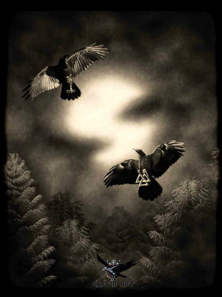 casper art ᛏ asatru ᛟ pinterest asatru crows and