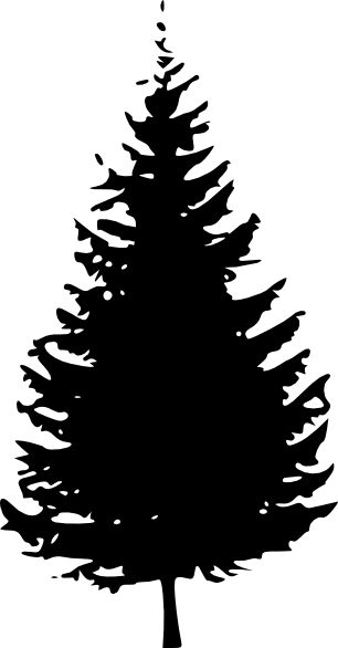 pine tree silhouette   Tree Silhouette clip art - vector clip art online, royalty free ...