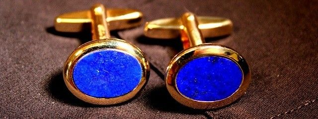Beautiful 14 carat golden cufflinks