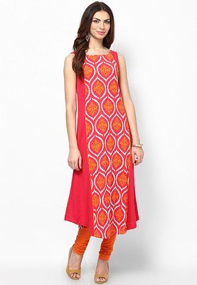 W Red Printed Cotton Kurta - Buy Women Kurtas & Kurtis Online | XW574WA65WJYINDFAS