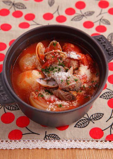 濃厚☆海鮮トマト鍋 のレシピ・作り方 │ABCクッキングスタジオのレシピ | 料理教室・スクールならABCクッキングスタジオ