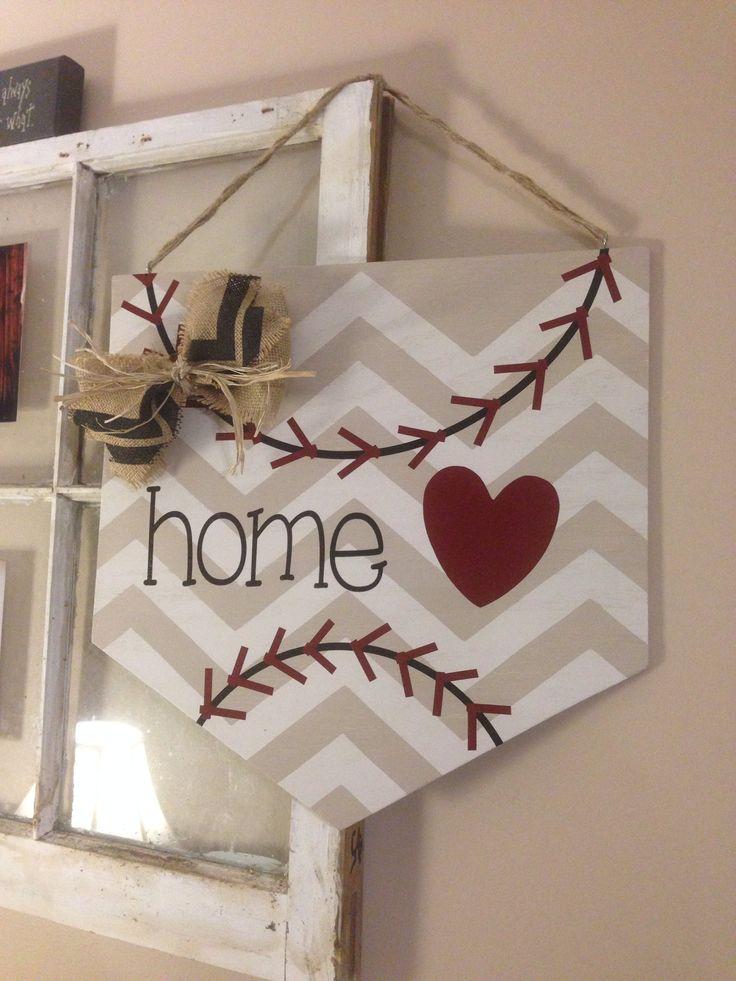 Home Plate Wall Hanger Door Hanger Baseball Sign