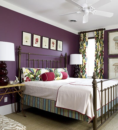 Purple Walls With Bright White Trim U0026 Ceiling For The Bedroom?