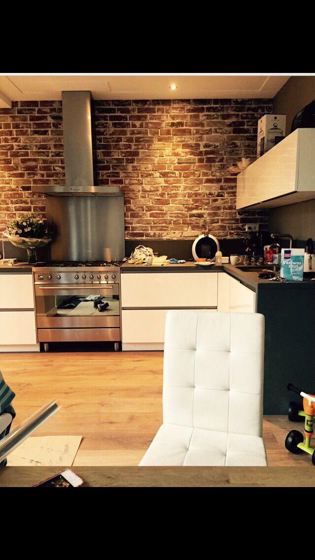 Old look New York Style Steenstrips in de keuken