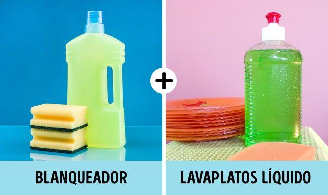 Rocía la solución compuesta por blanqueador (500 ml) y detergente líquido para trastes (2 cdas.). Luego de un tiempo enjuaga y las cortinas de baño lucirán impecables.