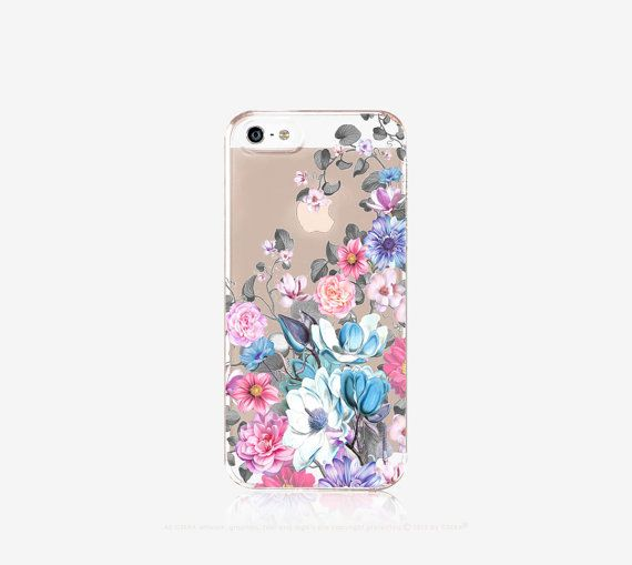 Floral iPhone 6s Case Clear Floral iPhone 6s Plus by casesbycsera
