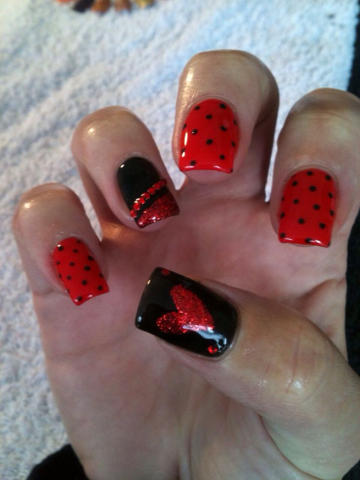50 best nails images on pinterest black nail arts and gold nails queen of hearts nails prinsesfo Choice Image