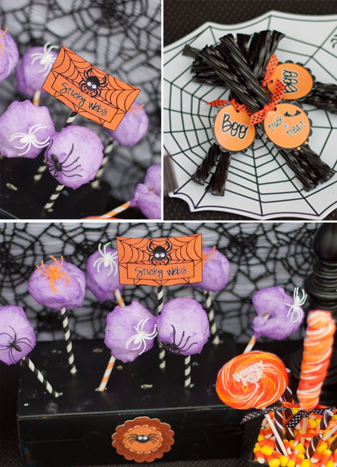 Cotton Candy + Striped Straws (plus plastic spiders) makes GENIUS Spiderwebs!!! Totally cute for Halloween parties!!! Love this idea.Cotton Candy, Stripes Straws, Halloween Parties Treats, Halloween Parties Ideas, Halloween Party Ideas, Cotton Candies, Genius Spiderweb, Plastic Spiders, Spiders Web