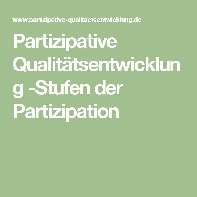 Partizipative Qualitätsentwicklung -Stufen der Partizipation