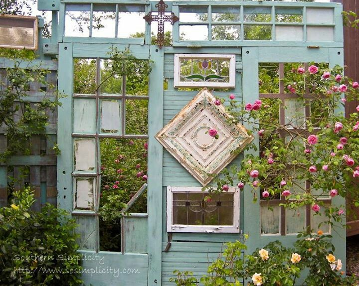 shabby chic garden trellis shabby chic vintage. Black Bedroom Furniture Sets. Home Design Ideas