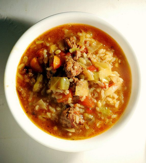 Cabbage roll soup. I thought it was quite good!!