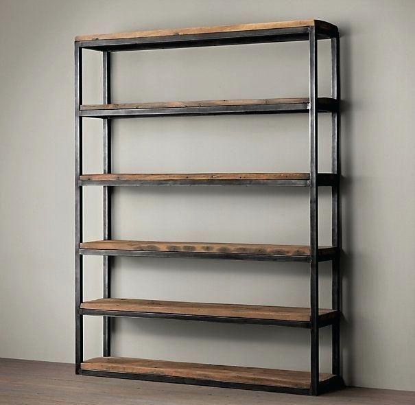 Best 25 Metal Shelves Ideas On Pinterest Metal Metal Shelving Metal And Wood Shelves Diy Metal Wood Bookshelf Wood Shelves Wood Bookshelves Metal Furniture