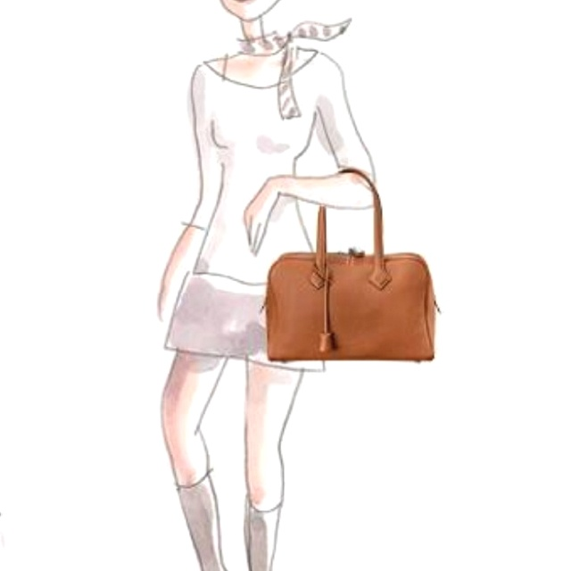 Hermes Etoupe Victoria with Palladium Hardware and Hermes Twilly ...