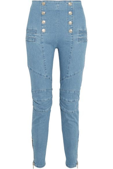 Pierre Balmain - High-rise Skinny Jeans - Light blue - 2