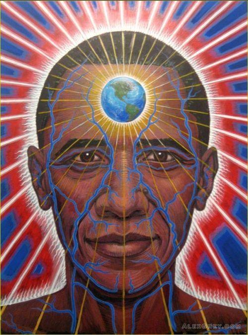 Obama portrait by Alex Grey