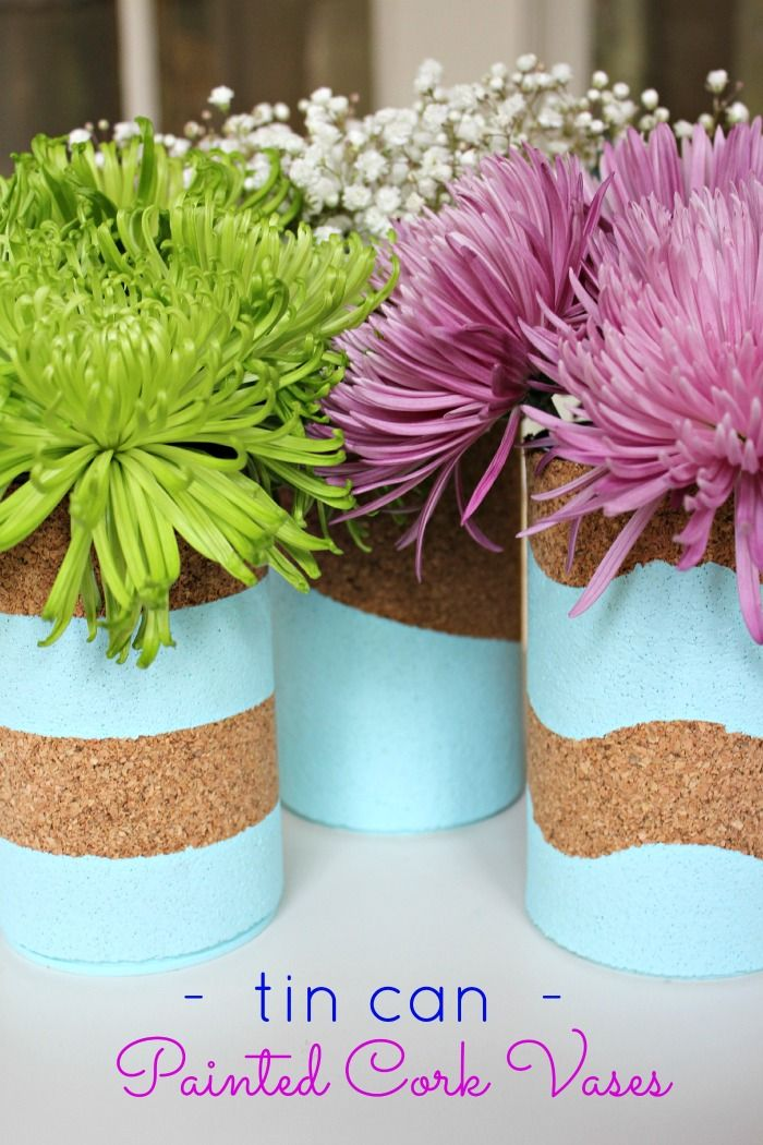 Tin Can Cork Vases