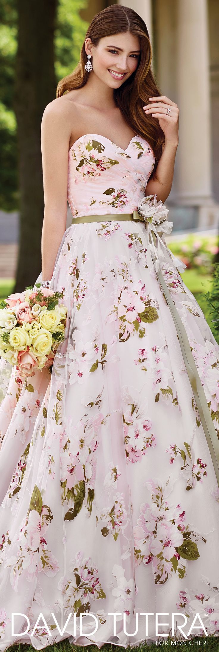 17 Best Ideas About Floral Wedding Dresses On Pinterest