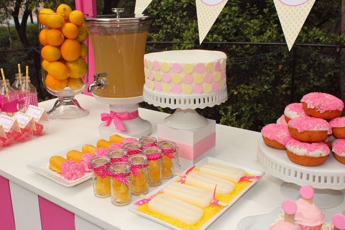 IMG_4106: Kids Parties, Lemonade Parties, Lemonade Guest, Junk Food, Desserts Bar, Parties Ideas, Guest Desserts, Desserts Tables, Easter Ideas