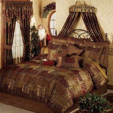 Galleria comforter bedding by croscill home decor luxury bedding pillows runners and for Designer linens and home fashions