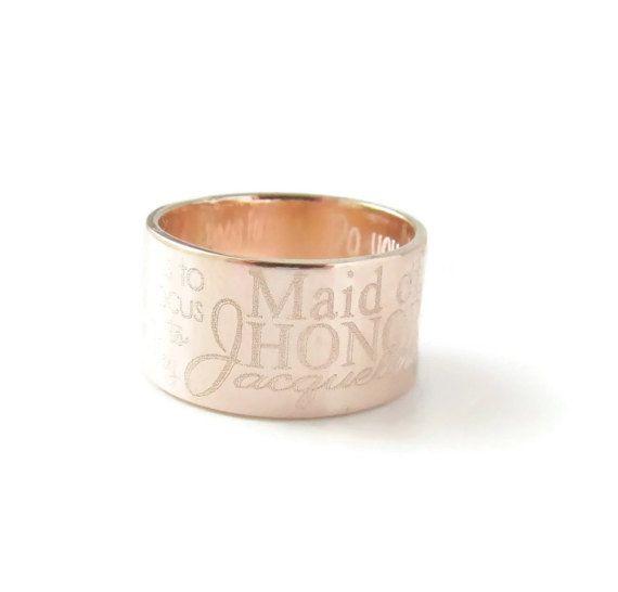 Grabado oro rosa inspiración anillo anillo de oro