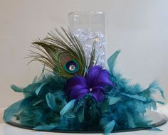 peacock centerpieces - Google Search