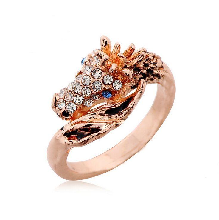 punk mode ring klein paard ringen mannen persoonlijkheid voor mannen en vrouwen eenvoudige schattige metalen dier bruiloft sieraden ons grootte(China (Mainland))