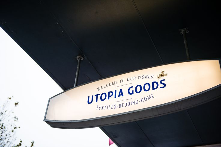 Utopia Goods Pop Up, May 2016. Signage by Deuce Design.