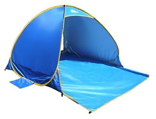 #beachaccessoriesstore OutdoorsmanLab Automatic Pop Up Beach Tent, Lightweight For Family with UV 50+ Protection,… #beachaccessoriesstore