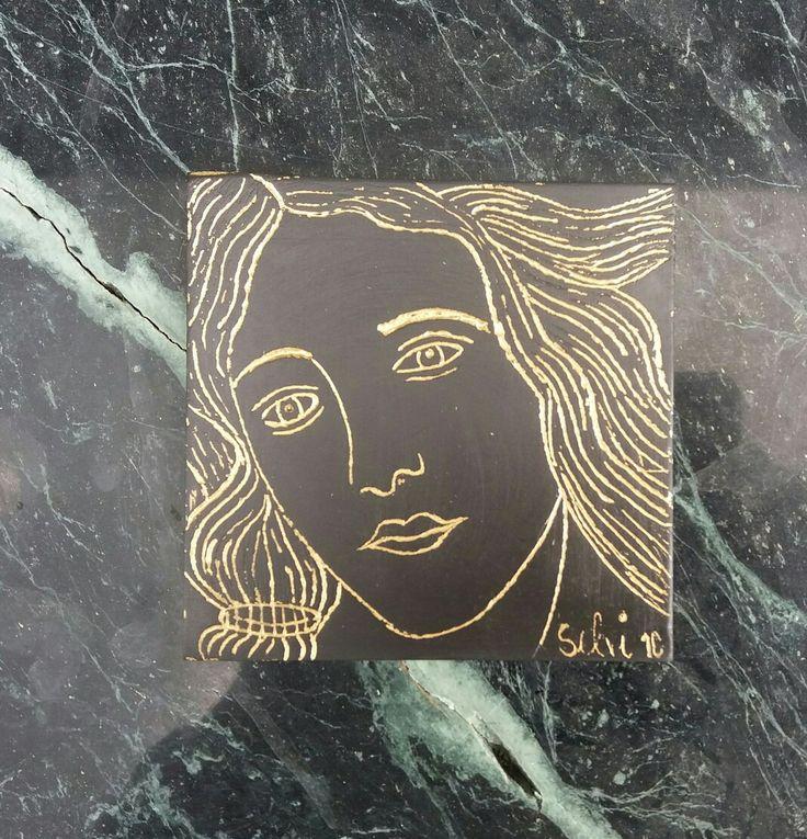 Interpretazione della Venere di Botticelli, allieva Dinelli Selvaggia 1C a.s. 2015/16 Liceo artistico Stagi.