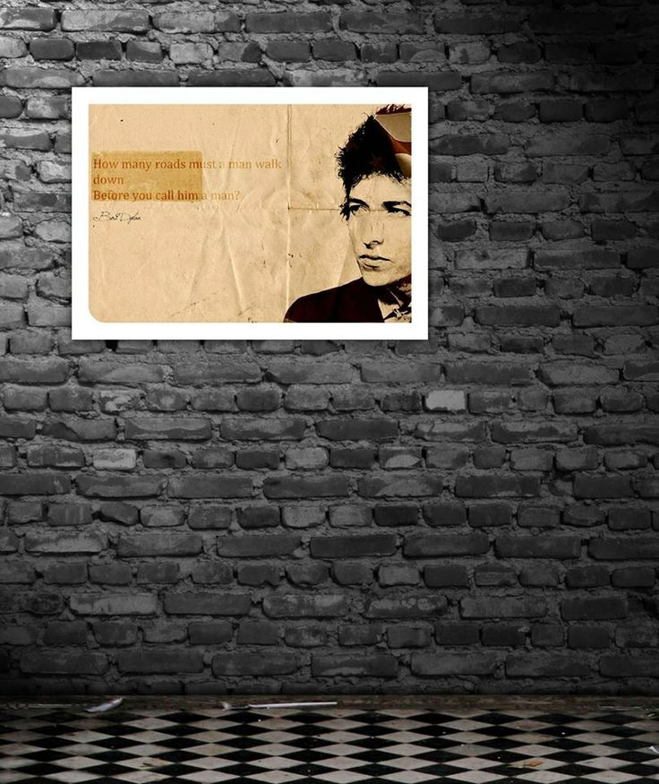 Bob Dylan block mount print_ the thought*