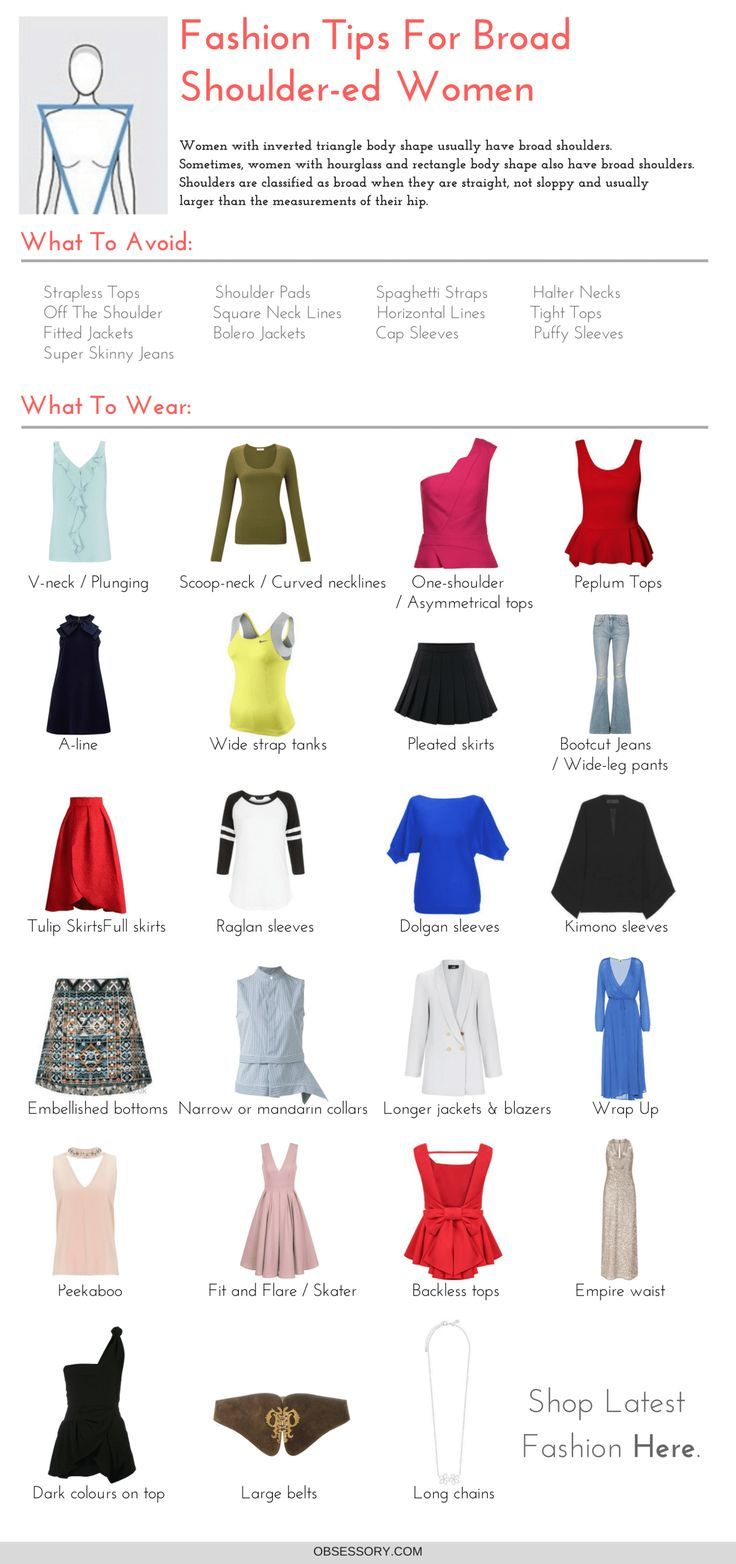 Fashion infographic & data visualisation Broad Shoulders? You Need