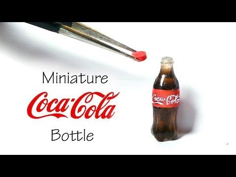 Miniature Coca Cola Inspired / Soda Bottle Tutorial (Resin) - YouTube