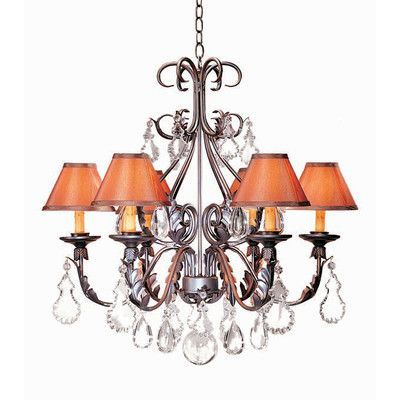 2nd Ave Design French Elegance 6-Light Shaded Chandelier Finish: Cameo Premium, Shade: Tuscan Alabaster