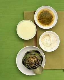 Three Dipping Sauces for Artichokes - Martha Stewart Kitchen appliances