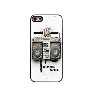 Bakside Dekke - iPhone 5/iPhone 5S - Tegneserie/Metallisk/Spesielt Design/Nyhet ( Multi-farge , Polykarbonat/Metall ) – NOK kr. 43