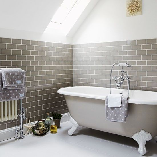 Grey bathroom | Hampshire family home | Country Homes & Interiors house tour | PHOTO GALLERY | Housetohome
