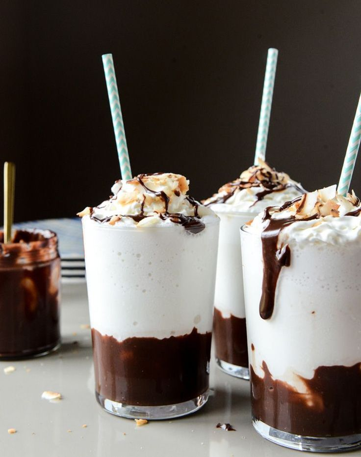 Boozy Coconut Hot Fudge Milkshake                                                                                                                                                                                 More