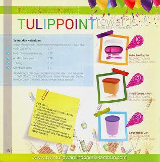 Point Reward Twin Tulipware | Januari - Februari 2014