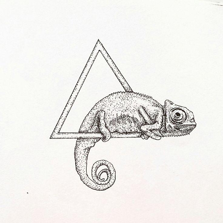 Chameleon Small Tattoo: 25+ Best Ideas About Pointillism Tattoo On Pinterest