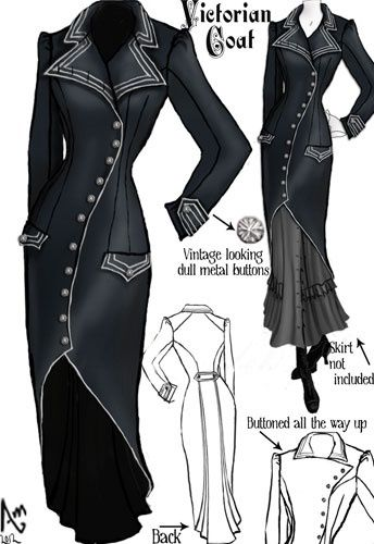 Victorian Coat by Amber Middaugh - more → http://pattyfashiondegreesblog.blogspot.com/2012/06/victorian-coat-by-amber-middaugh.html