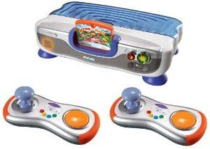 V.Smile V-Motion Active Learning System Giftset with 2 Wireless Controllers by Vtech. $72.50. V-Motion Active Learning System Giftset with TWO Wireless Controllers!. 100% compatible with the entire V.Smile Smartridge library.. Controller requires 3 AAA batteries (included). Console requires 4 AA batteries (included) or AC/DC 300mA adaptor (not included). Web connect features allow for bonus game play downloads.. Put your child in motion while teaching lessons in math, reading, s...