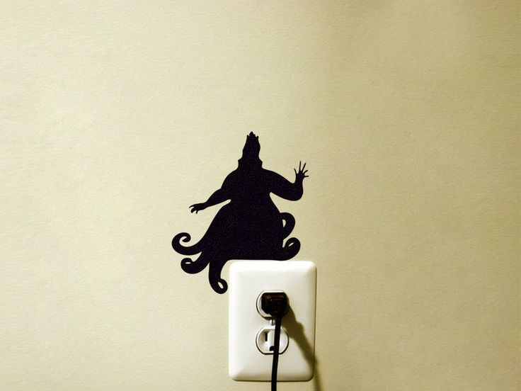 Ursula Disney Inspired Vinyl Decal Sticker Light Switch Kids Nursery by FineDecalShop on Etsy