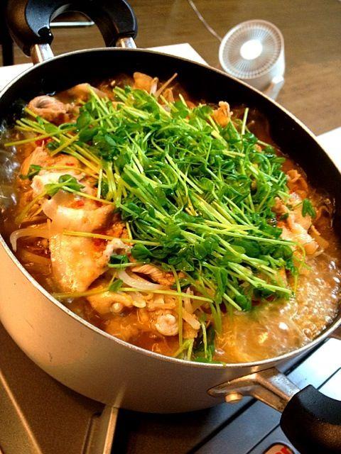 野菜、肉、野菜、肉、野菜… ひたすら重ねて、手作り辛味噌スープ♪ - 78件のもぐもぐ - ミルフィーユ鍋 手作りスープで by ヨッチャン